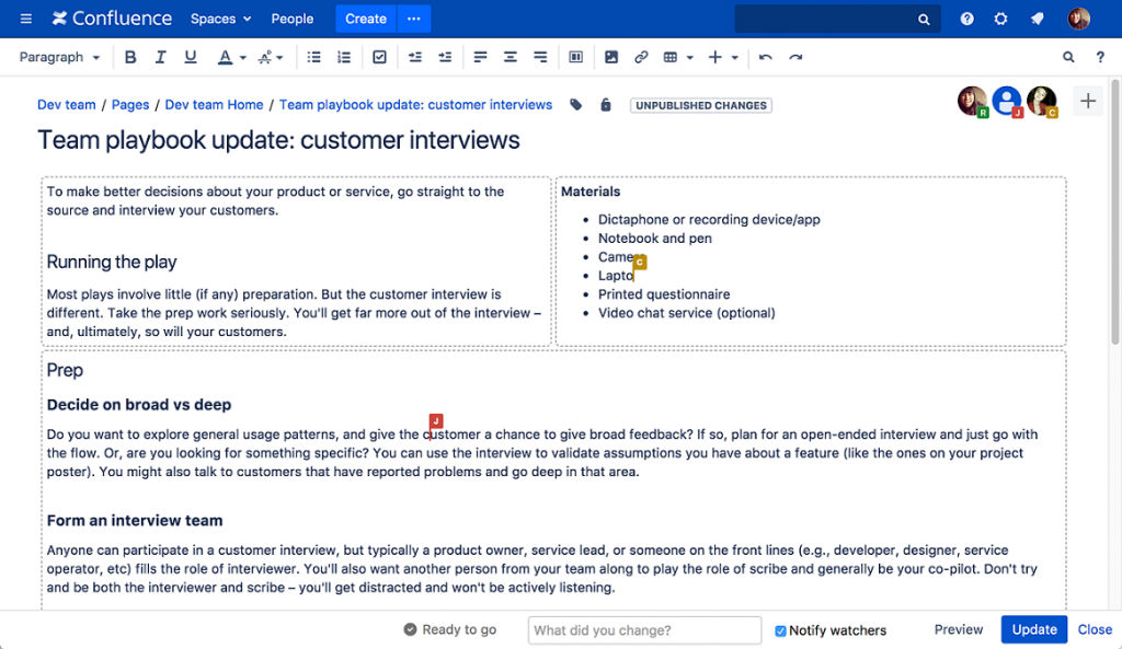 software for managing projects, confluence