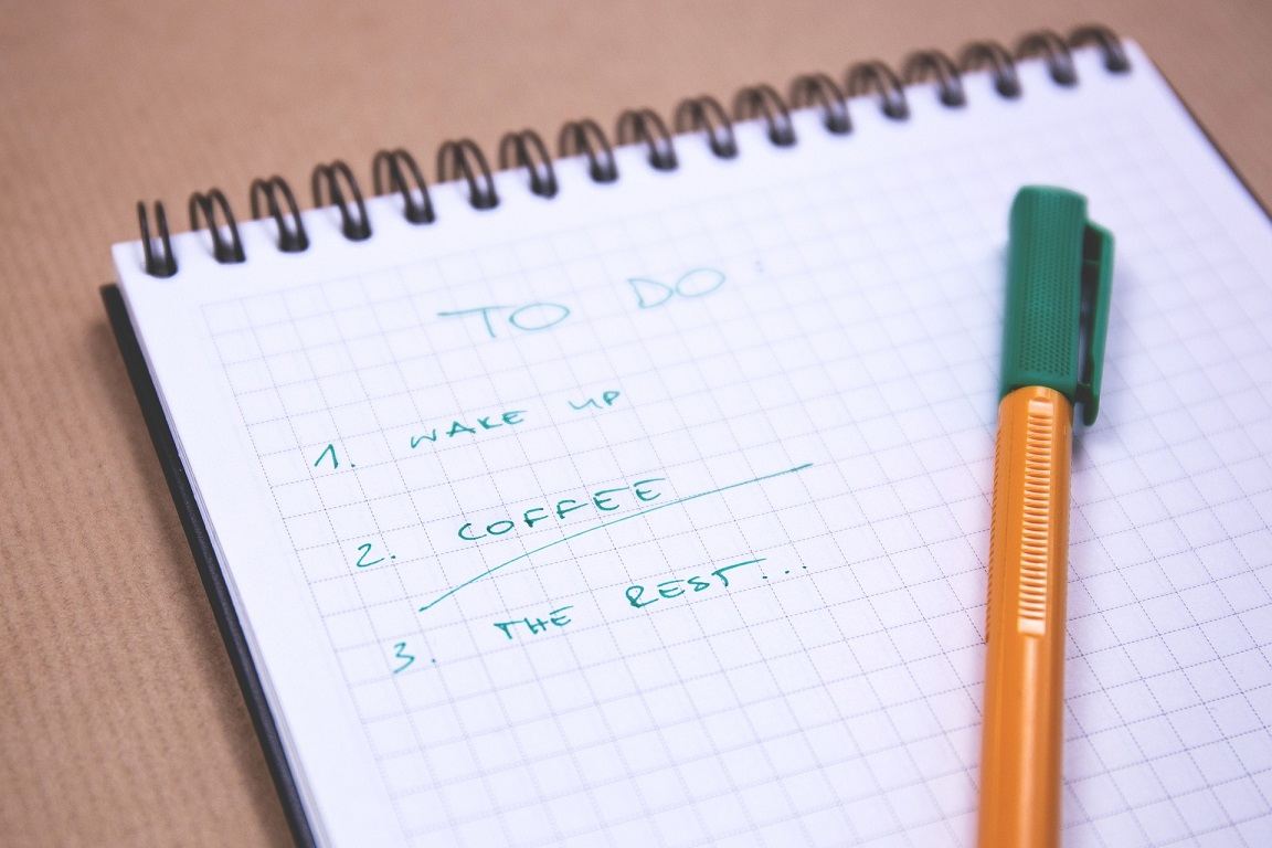 checklist for the project