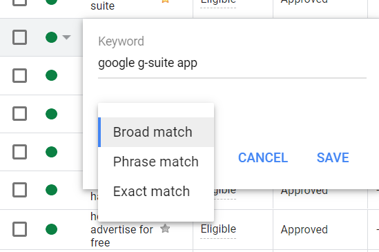keywords, broad match, phrase match, exact match, google ads, tutorial, google ads for nonprofits